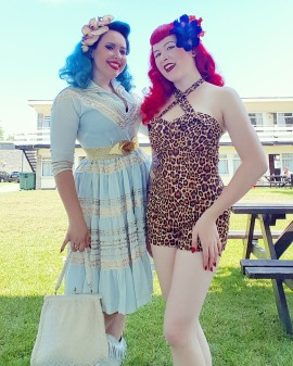Goldy Loxx in original vintage / me in Violets in May + Lady Lucks Boutique